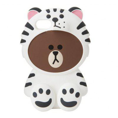 Buy WHITE 3D Cute Tiger Bear Cartoon Kawaii Soft Silicone Case for iPhone 7 Plus for $8.99 in GearBest store
