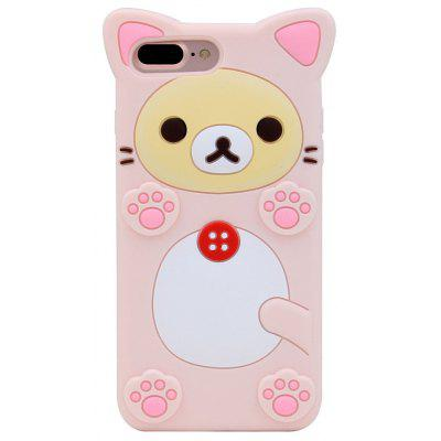 Buy 粉色 3D Pink Bear Rilakkuma Protective Silicone Case Cover for iPhone 6/6S for $4.47 in GearBest store