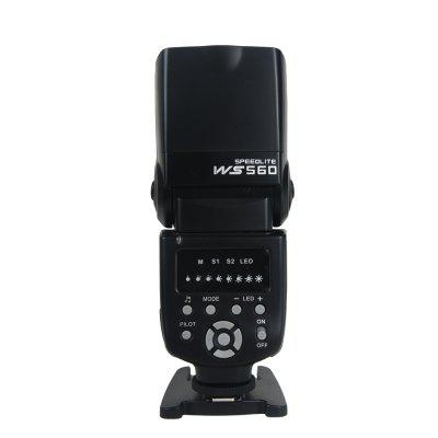 WS - 560 Universal Flash Speedlite Speedlight for Nikon / Canon / Olympus / PentaxFlash Diffuser<br>WS - 560 Universal Flash Speedlite Speedlight for Nikon / Canon / Olympus / Pentax<br><br>Color: Black<br>Material: ABS<br>Package Contents: 1 x Flash light, 1 x Protecting Bag, 1 x Mini Stand, 1 x User Manual<br>Package size (L x W x H): 21.00 x 9.50 x 8.00 cm / 8.27 x 3.74 x 3.15 inches<br>Package weight: 0.4700 kg