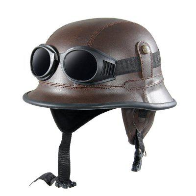 Vintage Motorcycle Helmets Retro Half Shell Goggle Helmet 56 - 60cm Unisex Protection Helm Matte Racer MotocrossOther  Motorcycle Accessories<br>Vintage Motorcycle Helmets Retro Half Shell Goggle Helmet 56 - 60cm Unisex Protection Helm Matte Racer Motocross<br><br>Accessories type: Others<br>Applicable Motorcycle Brand: For Aprilia,For BMW,For Ducati,For Honda,For Kawasaki,For MV Agusta,For Suzuki,For Triumph,For Yamaha,Universal<br>Avaliable Color: Brown<br>Package Contents: 1 x Helmet, 1 x Goggle<br>Package size (L x W x H): 28.00 x 25.00 x 15.00 cm / 11.02 x 9.84 x 5.91 inches<br>Package weight: 0.5200 kg