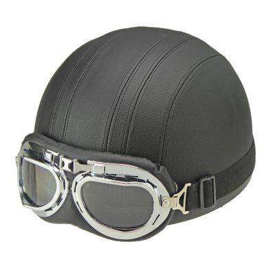 Motorcycle Helmet Open Face Visor Motocross Motor Helmets With Goggles Scarf Adjustable for Hare Retro Outdoor Cycling blackOther  Motorcycle Accessories<br>Motorcycle Helmet Open Face Visor Motocross Motor Helmets With Goggles Scarf Adjustable for Hare Retro Outdoor Cycling black<br><br>Accessories type: Others<br>Applicable Motorcycle Brand: For Aprilia,For BMW,For Ducati,For Honda,For Kawasaki,For MV Agusta,For Suzuki,For Triumph,For Yamaha,Universal<br>Avaliable Color: Black<br>Package Contents: 1 x Helmet, 1 x Goggle<br>Package size (L x W x H): 26.00 x 24.00 x 18.00 cm / 10.24 x 9.45 x 7.09 inches<br>Package weight: 0.7200 kg