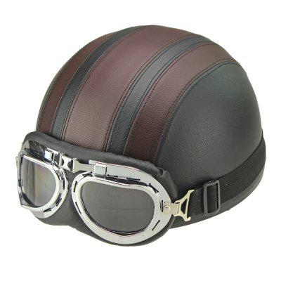 Motorcycle Helmet Open Face Visor Motocross Motor Helmets With Goggles Scarf Adjustable for Hare Retro Outdoor Cycling brownOther  Motorcycle Accessories<br>Motorcycle Helmet Open Face Visor Motocross Motor Helmets With Goggles Scarf Adjustable for Hare Retro Outdoor Cycling brown<br><br>Accessories type: Others<br>Applicable Motorcycle Brand: For Aprilia,For BMW,For Ducati,For Honda,For Kawasaki,For MV Agusta,For Suzuki,For Triumph,For Yamaha,Universal<br>Avaliable Color: Brown<br>Package Contents: 1 x Helmet, 1 x Goggle<br>Package size (L x W x H): 26.00 x 24.00 x 18.00 cm / 10.24 x 9.45 x 7.09 inches<br>Package weight: 0.8000 kg