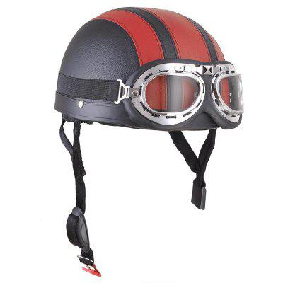 Motorcycle Helmet Open Face Visor Motocross Motor Helmets With Goggles Scarf Adjustable For Hare Retro Outdoor Cycling redOther  Motorcycle Accessories<br>Motorcycle Helmet Open Face Visor Motocross Motor Helmets With Goggles Scarf Adjustable For Hare Retro Outdoor Cycling red<br><br>Accessories type: Others<br>Applicable Motorcycle Brand: For Aprilia,For BMW,For Ducati,For Honda,For Kawasaki,For MV Agusta,For Suzuki,For Triumph,For Yamaha,Universal<br>Avaliable Color: Red<br>Package Contents: 1 x Helmet, 1 x Goggle<br>Package size (L x W x H): 26.00 x 24.00 x 18.00 cm / 10.24 x 9.45 x 7.09 inches<br>Package weight: 0.7200 kg