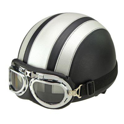 Motorcycle Helmet Open Face Visor Motocross Motor Helmets With Goggles Scarf Adjustable for Hare Retro Outdoor Cycling SilverOther  Motorcycle Accessories<br>Motorcycle Helmet Open Face Visor Motocross Motor Helmets With Goggles Scarf Adjustable for Hare Retro Outdoor Cycling Silver<br><br>Accessories type: Others<br>Applicable Motorcycle Brand: For Aprilia,For BMW,For Ducati,For Honda,For Kawasaki,For MV Agusta,For Suzuki,For Triumph,For Yamaha,Universal<br>Avaliable Color: Silver<br>Package Contents: 1 x Helmet, 1 x Goggle<br>Package size (L x W x H): 26.00 x 24.00 x 18.00 cm / 10.24 x 9.45 x 7.09 inches<br>Package weight: 0.7200 kg