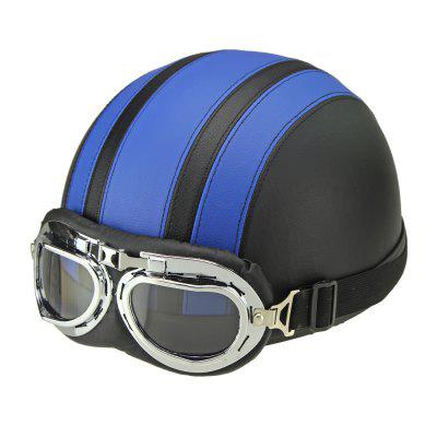 Motorcycle Helmet Open Face Visor Motocross Motor Helmets With Goggles Scarf Adjustable for Hare Retro Outdoor Cycling BlueOther  Motorcycle Accessories<br>Motorcycle Helmet Open Face Visor Motocross Motor Helmets With Goggles Scarf Adjustable for Hare Retro Outdoor Cycling Blue<br><br>Accessories type: Others<br>Applicable Motorcycle Brand: For Aprilia,For BMW,For Ducati,For Honda,For Kawasaki,For MV Agusta,For Suzuki,For Triumph,For Yamaha,Universal<br>Avaliable Color : Blue<br>Package Contents: 1 x Helmet, 1 x Goggle<br>Package size (L x W x H): 26.00 x 24.00 x 18.00 cm / 10.24 x 9.45 x 7.09 inches<br>Package weight: 0.7200 kg