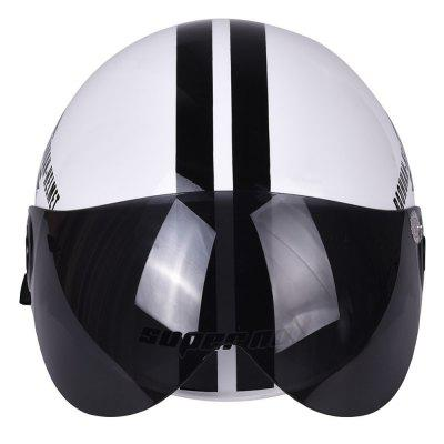 Motorcycle Helmet Half Open Face Adjustable Size Protection Gear Head Helmets Unisex Five-pointed Star White NewestOther  Motorcycle Accessories<br>Motorcycle Helmet Half Open Face Adjustable Size Protection Gear Head Helmets Unisex Five-pointed Star White Newest<br><br>Accessories type: Others<br>Applicable Motorcycle Brand: For Aprilia,For BMW,For Ducati,For Honda,For Kawasaki,For MV Agusta,For Suzuki,For Triumph,For Yamaha,Universal<br>Avaliable Color: White<br>Package Contents: 1 x Motorcycle Helmet<br>Package size (L x W x H): 27.00 x 23.00 x 20.00 cm / 10.63 x 9.06 x 7.87 inches<br>Package weight: 1.0600 kg