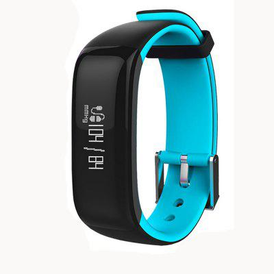 Buy P1 Smartband Fitness Bracelet Activity Tracker Smart Watches Blood Pressure Monitor Smart Band Pedometer Wristband For iPhone BLACK AND BLUE for $26.33 in GearBest store