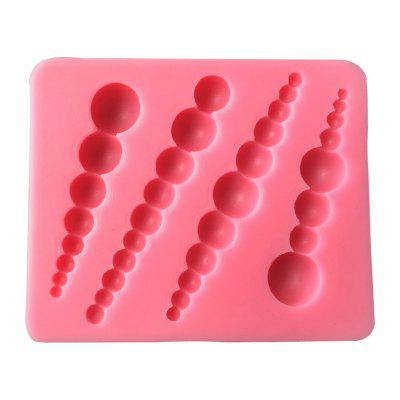 AK Jewelry Bead Fondant Cake Decorating Silicone Moulds Sm-470