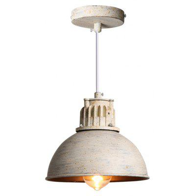 Buy WHITE AND YELLOW Brightness Max 60W Retro Industrial Simple Loft Pendant Lights 110 240V Metal Dining Room Kitchen Bar Cafe Hallway Balcony Light Fixture for $59.92 in GearBest store