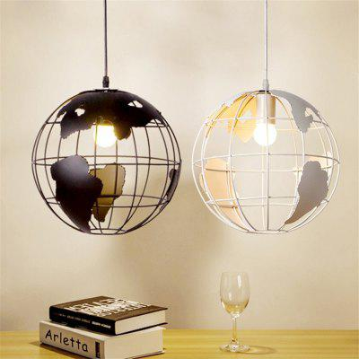 Brightness Vintage Creative Terrestrial globe Pendant Lights Loft Creative Industrial Lamp  For Living Room Restaurant Bars Clothing Store decoration Light FixturePendant Light<br>Brightness Vintage Creative Terrestrial globe Pendant Lights Loft Creative Industrial Lamp  For Living Room Restaurant Bars Clothing Store decoration Light Fixture<br><br>Battery Included: No<br>Bulb Base: E26,E27<br>Bulb Included: No<br>Bulb Type: Incandescent<br>Chain / Cord Adjustable or Not: Chain / Cord Adjustable<br>Chain / Cord Length ( CM ): 100<br>Features: Mini Style<br>Finish: Paint<br>Fixture Height ( CM ): 20<br>Fixture Length ( CM ): 20<br>Fixture Material: Metal<br>Fixture Width ( CM ): 20<br>Light Direction: Ambient Light<br>Number of Bulb: 1 Bulb<br>Number of Bulb Sockets: 1<br>Package Contents: 1 x Light,1 x Assembly Part<br>Package size (L x W x H): 22.00 x 22.00 x 22.00 cm / 8.66 x 8.66 x 8.66 inches<br>Package weight: 0.9000 kg<br>Product size (L x W x H): 20.00 x 20.00 x 20.00 cm / 7.87 x 7.87 x 7.87 inches<br>Product weight: 0.6000 kg<br>Shade Material: Metal<br>Style: Artistic Style, Country, Island, Vintage antique<br>Suggested Room Size: 0 - 5?<br>Suggested Space Fit: Bedroom,Boys Room,Dining Room,Entry,Game Room,Girls Room,Indoors,Kids Room,Kitchen,Living Room,Study Room<br>Type: Retro, Pendant Light<br>Voltage ( V ): AC110,AC220<br>Wattage per Bulb ( W ): 60