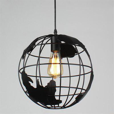 Buy BLACK Brightness Vintage Creative Terrestrial Globe Pendant Lights 110 240V Loft Industrial Lamp for Living Room Restaurant Bars Clothing Store Decoration Light Fixture for $46.65 in GearBest store