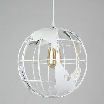 Buy WHITE Brightness Vintage Creative Terrestrial Globe Pendant Lights 110 240V Loft Industrial Lamp for Living Room Restaurant Bars Clothing Store Decoration Light Fixture for $46.65 in GearBest store