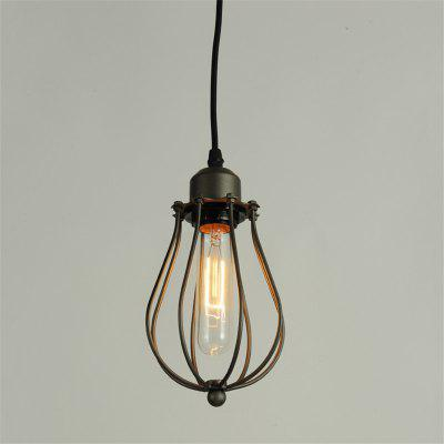 Buy BLACK Brightness Max 60W Vintage Pendant Lights Loft Black Birdcage Dining Room Bar Clothing Store Light Fixture for $23.99 in GearBest store