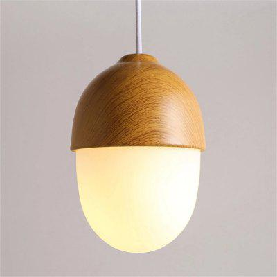 CXYlight Northern Europe Style Wood Grain Metal Glass Pendant Celling Lights