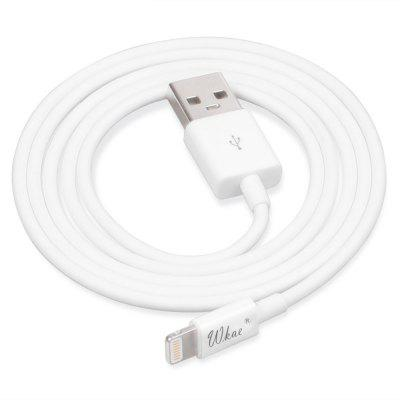 Wkae 1m 8 Pin USB CableiPhone Cables &amp; Adapters<br>Wkae 1m 8 Pin USB Cable<br><br>Cable Length (cm): 1M<br>Color: White<br>Features: MFI Certified<br>Interface Type: 8 pin<br>Package Contents: 1 x Cable<br>Package size (L x W x H): 12.00 x 12.00 x 0.50 cm / 4.72 x 4.72 x 0.2 inches<br>Package weight: 0.0350 kg<br>Type: Cable