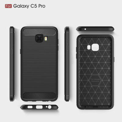 Wkae Case Solid Color Carbon Fiber Texture TPU Soft Protective Case for Samsung Galaxy C5 Pro от GearBest.com INT