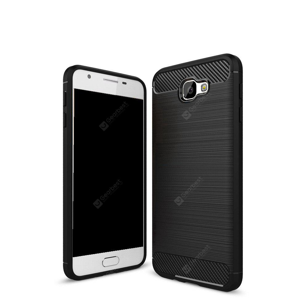 Wkae Solid Color Carbon Fiber Texture TPU Soft Protective Case for Samsung Galaxy J7 Prime