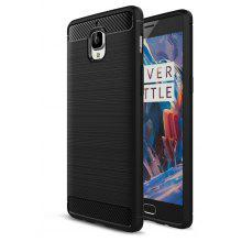 Wkae Solid Color Carbon Fiber Texture TPU Soft Protective Case for One Plus 3