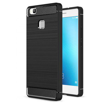 Wkae Solid Color Carbon Fiber Texture TPU Soft Protective Case for HUAWEI P9 Lite