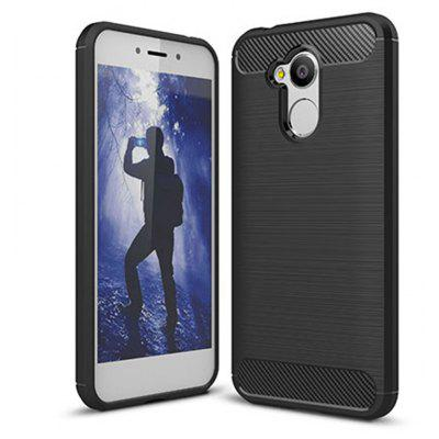 Wkae Solid Color Carbon Fiber Texture TPU Soft Protective Case for HUAWEI 6A