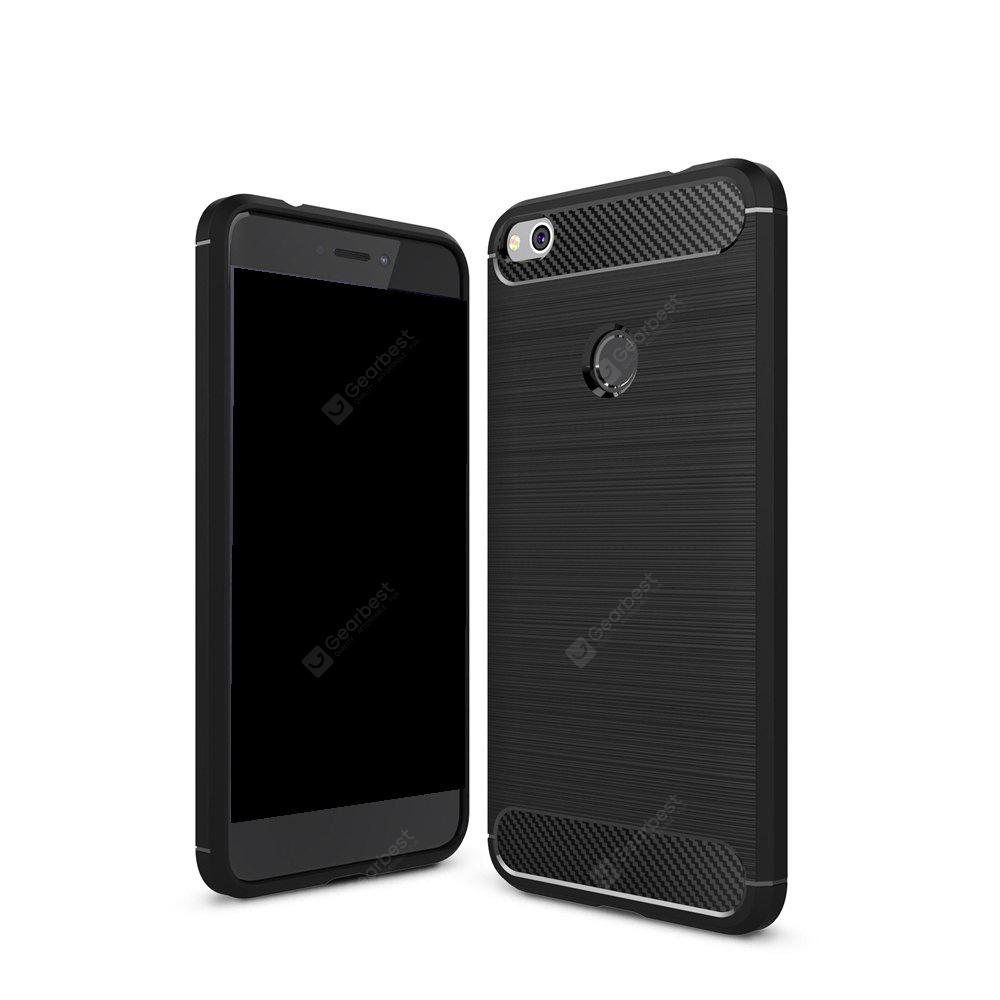 Wkae Solid Color Carbon Fiber Texture TPU Soft Protective Case for HUAWEI P8 Lite 2017