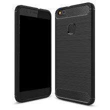 Wkae Solid Color Carbon Fiber Texture TPU Soft Protective Case for HUAWEI P10 Lite