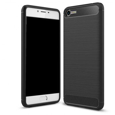 Wkae Solid Color Carbon Fiber Texture TPU Soft Protective Case for Noblue E2