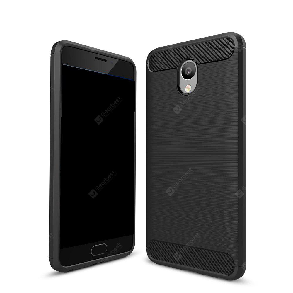 Wkae Solid Color Carbon Fiber Texture TPU Soft Protective Case for Noblue Note 5