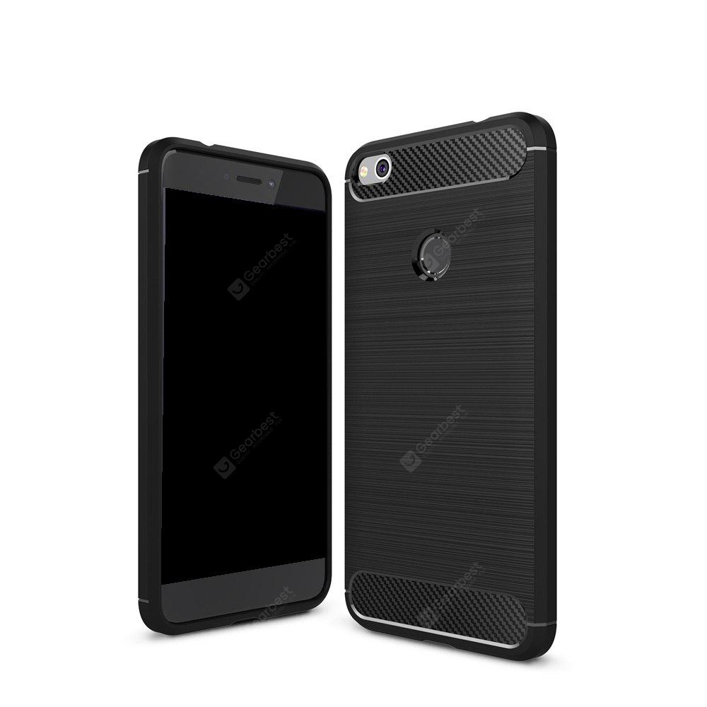 Wkae Solid Color Carbon Fiber Texture TPU Soft Protective Case for Honor 8 Lite