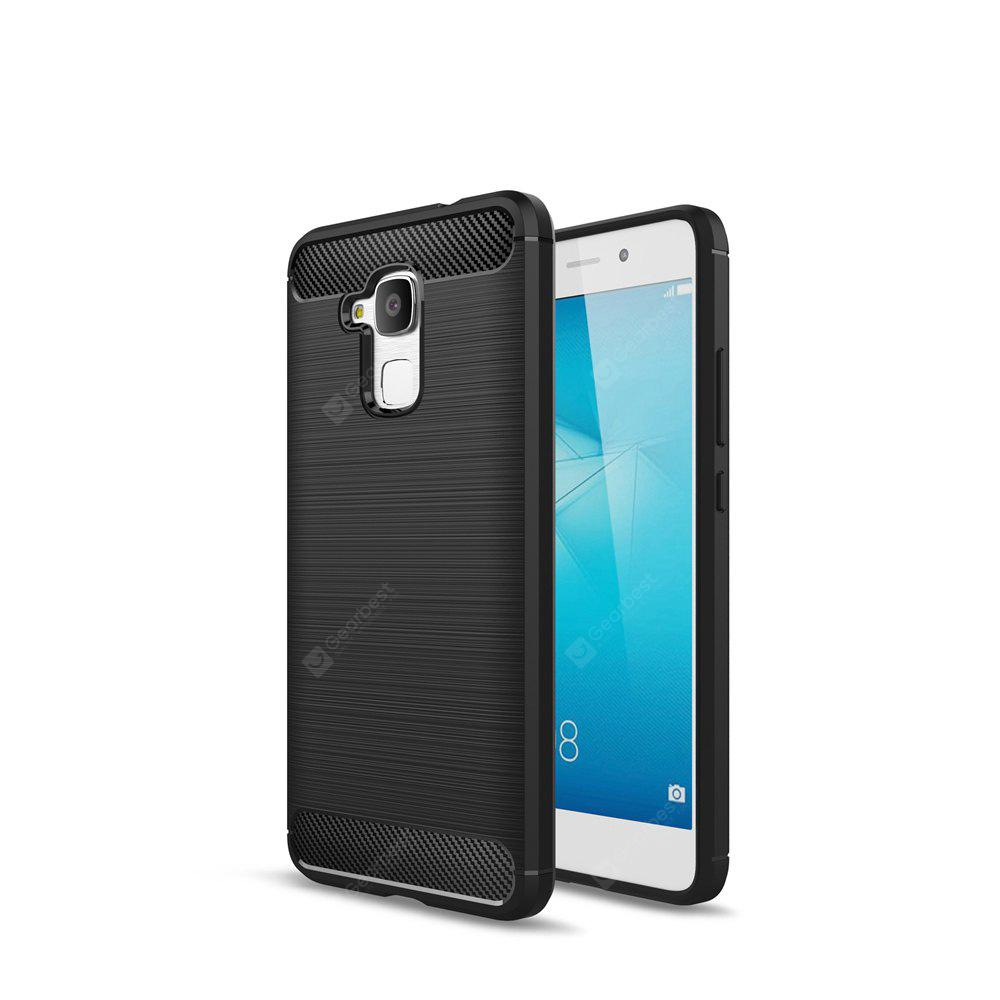 Wkae Solid Color Carbon Fiber Texture TPU Soft Protective Case for HUAWEI Honor Acer 5C