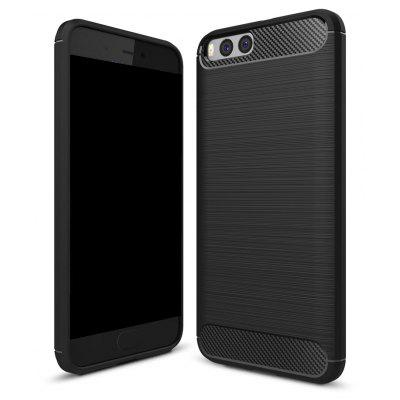 Wkae Solid Color Carbon Fiber Texture TPU Soft Protective Case for Xiaomi 6
