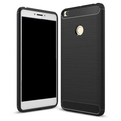 Wkae Solid Color Carbon Fiber Texture TPU Soft Protective Case for Xiaomi Max2