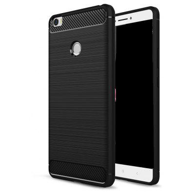 Wkae Solid Color Carbon Fiber Texture TPU Soft Protective Case for Xiaomi Max