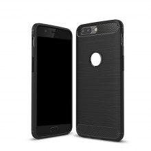 Wkae Solid Color Carbon Fiber Texture TPU Soft Protective Case for OnePlus 5