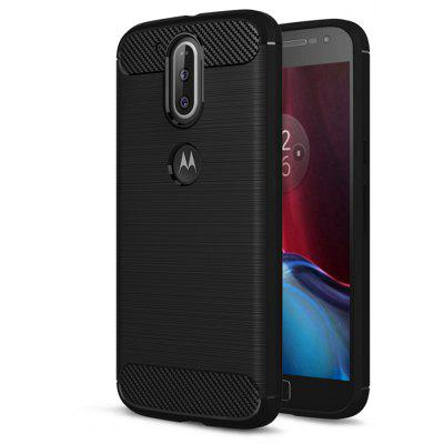 Wkae Solid Color Carbon Fiber Texture TPU Soft Protective Case for MOTO G4 Plus