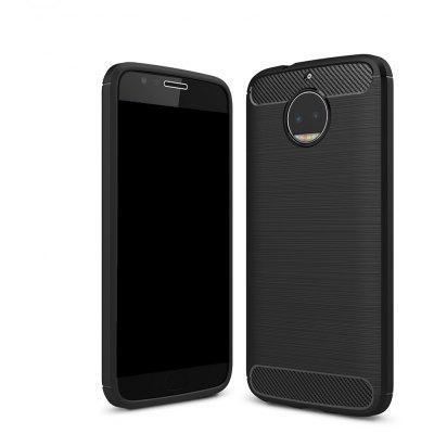 Wkae Solid Color Carbon Fiber Texture TPU Soft Protective Case for MOTO X Plus