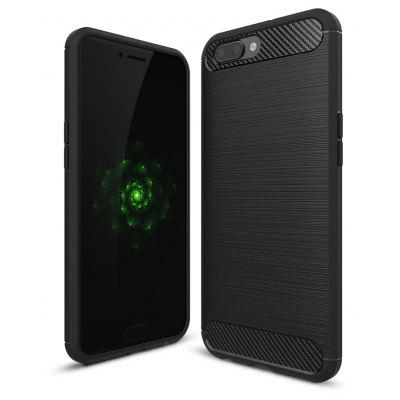Wkae Solid Color Carbon Fiber Texture TPU Soft Protective Case for OPPO R11 Plus