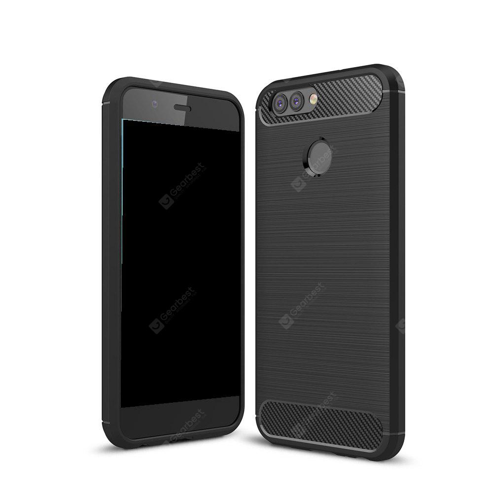 Wkae Solid Color Carbon Fiber Texture TPU Soft Protective Case for HUAWEI Nova 2 Plus
