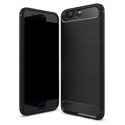 Wkae Solid Color Carbon Fiber Texture TPU Soft Protective Case for HUAWEI P10 Plus