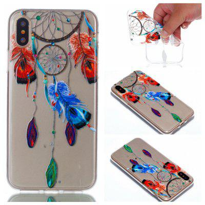 Buy COLORFUL Wkae Feather Wind Bell Colorful Pattern Soft Transparent Case for iPhone 8 for $3.20 in GearBest store