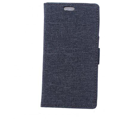 Wkae Linen Texture Flip Stand Case with Wallet Card Slots for ASUS ZE554KL