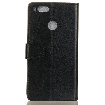 Wkae Crystal Texture PU Leather Flip Stand Case with Wallet Card Slots for Xiaomi 5X
