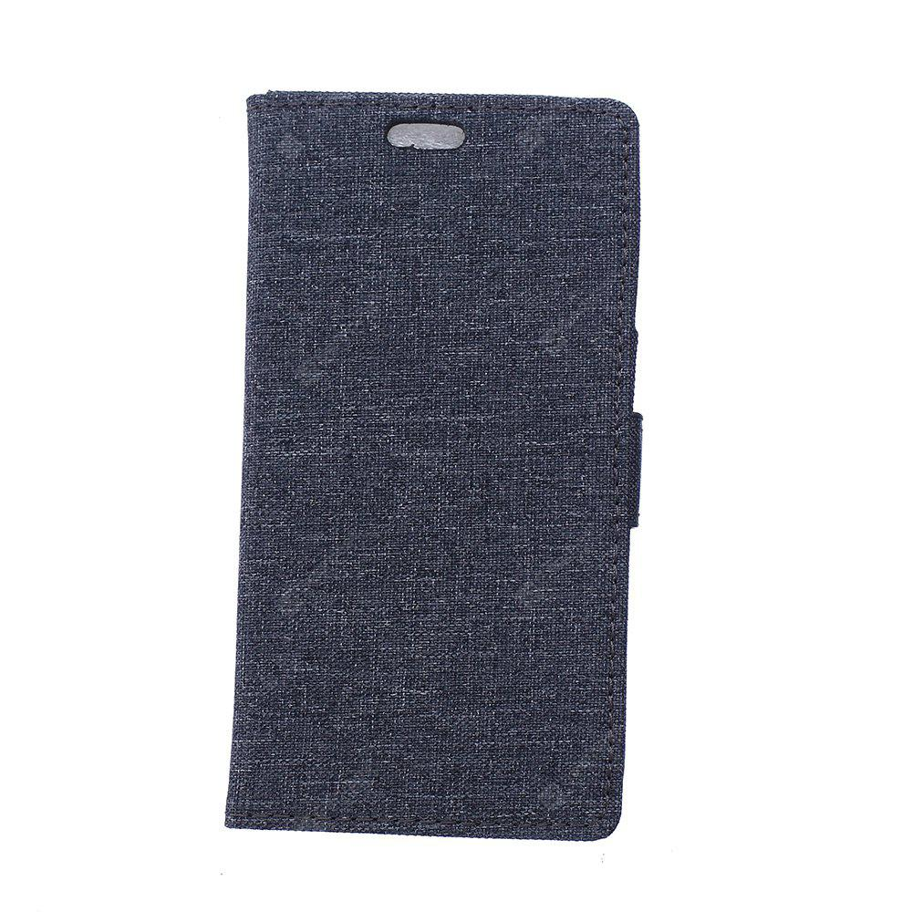 Wkae Linen Texture Flip Stand Protective Case with Wallet Card Slots for ZTE A521