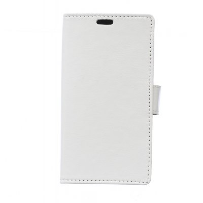 Wkae Crystal Texture PU Leather Flip Stand Case with Wallet Card Slots for ZTE A521