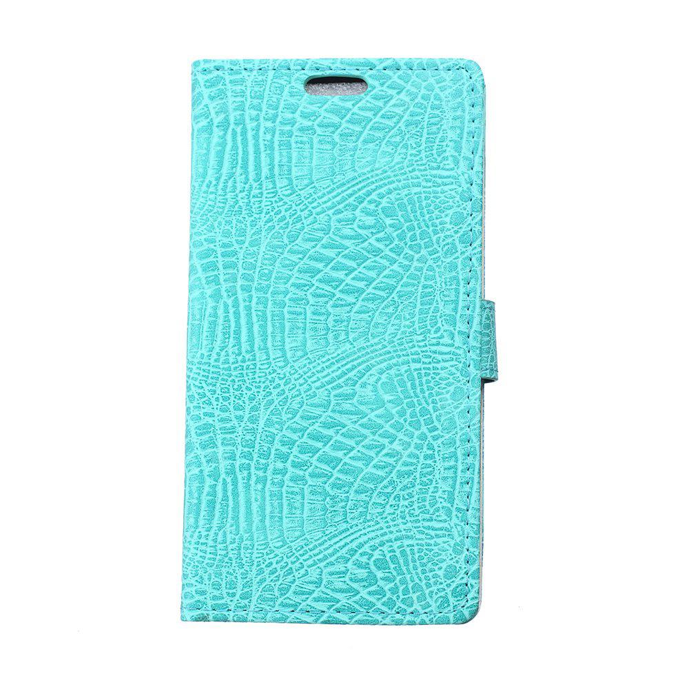 Wkae Crocodile Texture PU Leather Flip Stand Case with Wallet Card Slots for ZTE A521