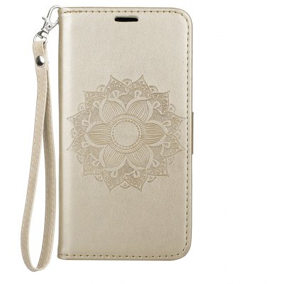 Wkae EU Version Datura Embossing PU Leather Case with Wallet Card Slots for Samsung Galaxy J5 2017
