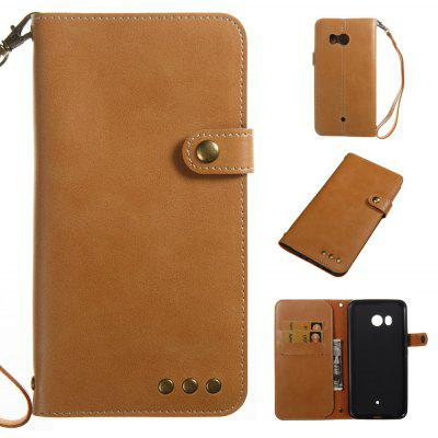 Buy YELLOW Wkae Crazy Horse Texture Retro PU Leather Case with Wallet Card Slots for HTC U11 for $8.41 in GearBest store