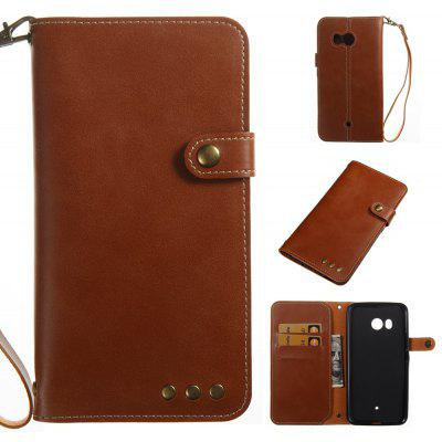 Buy BROWN Wkae Crazy Horse Texture Retro PU Leather Case with Wallet Card Slots for HTC U11 for $8.41 in GearBest store