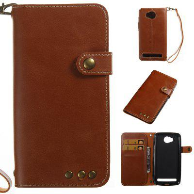 Buy BROWN Wkae Crazy Horse Texture Retro PU Leather Case with Wallet Card Slots for HUAWEI Y3 ll for $8.41 in GearBest store