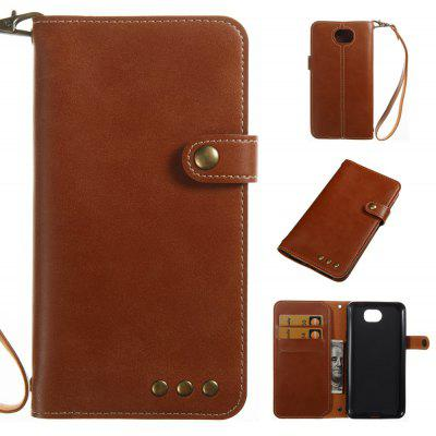 Buy BROWN Wkae Crazy Horse Texture Retro PU Leather Case with Wallet Card Slots forHUAWEI Y5 ll for $8.41 in GearBest store